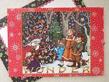 Unused Christmas Greeting Card Mary Engelbreit Wonder Santa & Kids in Forest