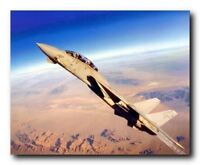 Grumman F-14 Tomcat Fighter Jet Airplane Aviation Aircraft Wall Art Print 16x20