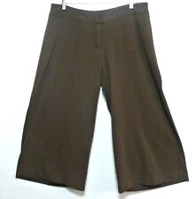 JPR Ladies Milk Chocolate Brown Polyester Rayon Culotte Style Pants - Sz 12