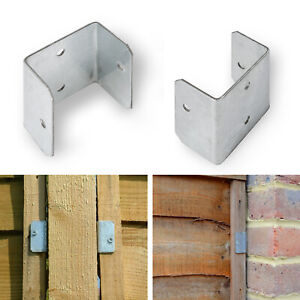 Fence Panel Clip Trellis Bracket Garden Galvanised - pack of 10