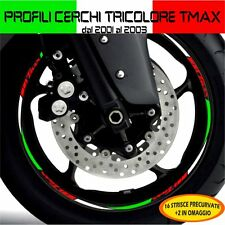 PROFILI CERCHIO TRICOLORE ITALIA WHEEL TMAX T-MAX 2001 / 2003 ADESIVI CERCHI