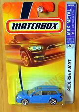 Matchbox Audi RS6 Avant Wagon [Sky Blue] Quattro - New/Sealed/RARE