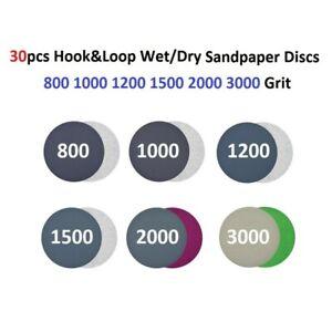 30pcs/set Water Proof Sanding Disc 800 1000 1200 1500 2000 3000 Grit 3inch/75mm
