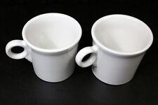 Fiestaware White O Ring Mugs Lot of 2 Stamped NNA Post 86
