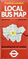 Central London Local Bus Map Spring 1985