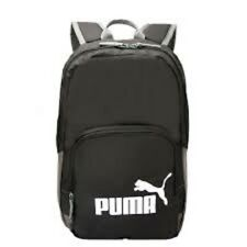 PUMA Phase Black Backpack for Sports, Leisure, Travel or School
