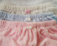 Ladies Lolita Velvet Shorts Ruffle Bloomers Rabbit Fur Tail Knickers Underpants