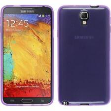 Silikon Hülle für Samsung Galaxy Note 3 Neo lila transparent Cover