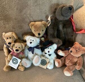 Lot/7 Boyds Bears w/Tags • Lewis, Matthew, Leon, Dover, Edwin, Patches, Tatters
