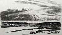 Karl Adser 1912-1995 Weites Land Flachlandschaft Skandinavien #2