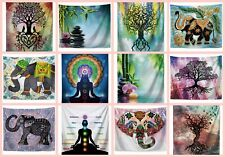 10 pieces wall rug elephant tree of life Chakra hanging tapestries