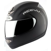 Reevu Msx 1 Rear View Motorcycle Helmet Black Matte Includes Tinted Visor