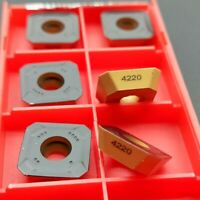 10PCS R245-12T3M-PM 4220 CNC lathe inserts cutting tool carbide turning blade