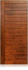 "Lunario Design 36""x96"" Exterior Unfinished Modern Mahogany Single Pre-Hung Door"