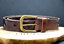 Fat Face Womens Vintage Leather Belt Brown Size S/M