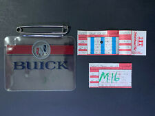 1992 Detroit Grand Prix Tickets and Buick Badge Holder