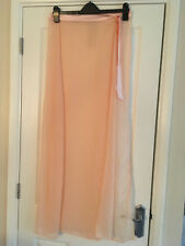 BNWT LIPSY Pool Party Nude Chiffon Side Tie Wrap Maxi Beach Skirt Size M Medium