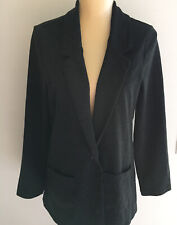 Garnet Hill Womens Ponte Tencel Jacket Size 10 Charcoal Gray Lined Pockets EUC