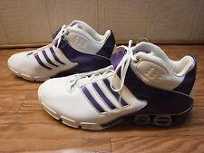 Adidas Non Marking White&Purple Athletic Sneaker Shoes Men US 17 *NWOTD*