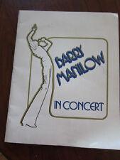 BARRY MANILOW Concert program 1978