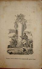 1846 NAPOLEONE SCRIVE MEMORIA INGRESSO EGITTO  litografia Napoleon Egypt