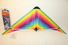 4' Top of the Line Sport Kite Two Handed Snap Delta Rainbow Gradient CLEAN!