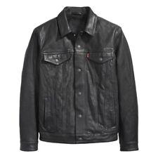 Neues AngebotHerren Levi'S Buffalo Leder Trucker Jacket-Größe Small-schwarz