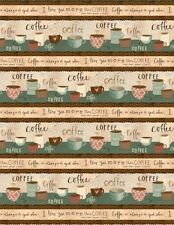 Wilmington But First Coffee! by Katie Doucette 54522 142 Scenic StripeCotton Fab