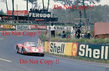 GURNEY & Foyt Shelby American FORD GT40 Vincitori Le Mans 1967 fotografia 3