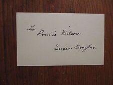 "SUSAN  DOUGLAS(Robes)(Died-2013(""Guiding  Light"") Signed 1950's  Gov't Postcard"