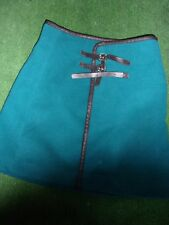 LADIES GREEN FELT(EFFECT) WRAP OVER  SKIRT BY ATMOSPHERE SIZE 10 USED