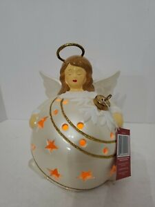QVC Angel Flameless Candle Luminaries With Timer in Gift Box Christmas Decor