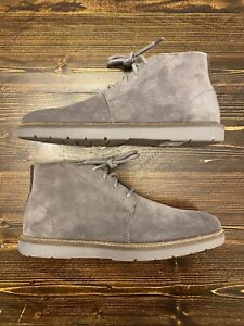 Clarks Grandin Mid Grey Suede Chukka Boots, Mens Size 7, Brand New