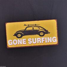 GONE SURFING, Kühlschrankmagnet, Magnet, Memomagnet, VW-Käfer mit Surfbrett, NEU