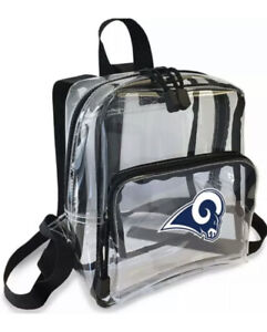 """NFL Los Angeles Rams """"X-Ray"""" Mini Transparent 9"""" Backpack Cute Bag New"""