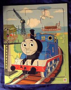 Thomas The Tank Engine Train And Friends 9 Piece Wood Board Tray Puzzle MB