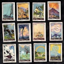 Acts Of God & Natural Disasters Cailler Swiss 1920 Stamp Card Set Storm Quake