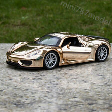 Golden-Yellow Plated 1:32 Porsche 918 Car Model Alloy Diecast Collections&Gifts