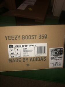 Size 4.5 - adidas Yeezy Boost 350 V2 Mono Mist 2021 - GW2871