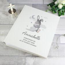 Personalised Baby Bunny Photo Album Christenings, Baby Shower, New Baby Keepsake