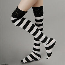 "Dollmore 17"" 1/4 BJD doll clothes MSD SIZE - RRopia Striped Band Stocking (BW)"