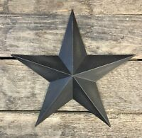 "Tin Metal Americana 12"" Black Country Barn Star"
