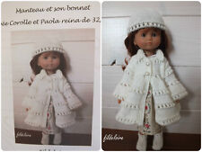 fiche tricot Corolle petites chéries /Paola reina, little darling/32/33 cm