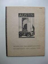 Austin Range Seven Ten Twelve Fourteen Eighteen Twenty brochure English1939 40p