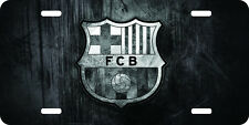 Barcelona grey Airbrushed car tag license plate 12