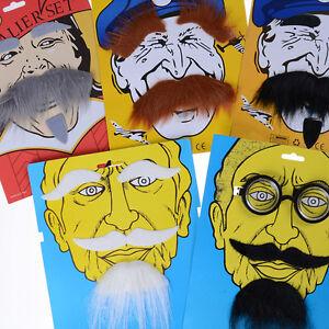 Funny Costume Party Halloween Beard Facial Hair Disguise Mustache DecorationBI