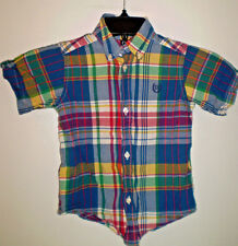 CHAPS Boys Toddlers Shirt Short Sleeve Button Down (Size 3T) Multi Color Plaid