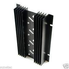 SS464 TO-3 holes x4 Aluminum Black Heatsink Heat Sink Audio Amplifier