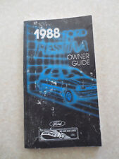 Original 1988 Ford Festiva car owner's manual
