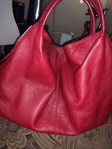 Furla Top Handle Tote Satchel Handbag Red Bag
